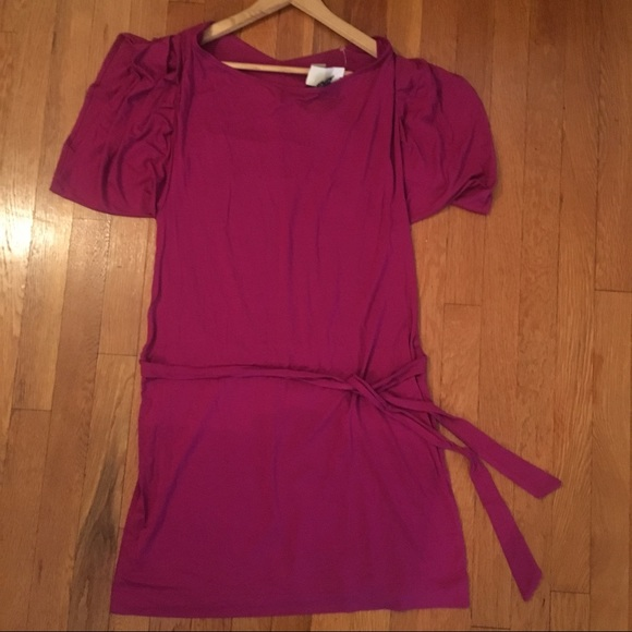 New York & Company Dresses & Skirts - Fuchsia New York & Company Waist Tie Dress